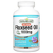 Natures Aid Cold Pressed Flaxseed Oil 1000mg - 180 Capsules
