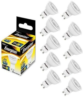 10 x Energizer Warm White LED GU10 Light Bulb