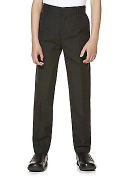 """F&F School 2 Pack of Boys Teflon EcoElite""""™ Flat Front Slim Leg Shorter Length Trousers - Black"""
