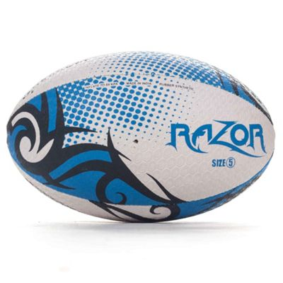 Optimum Razor Rugby League Union Ball Black/Blue/White - Size 5