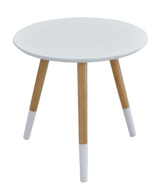 Marco Round Side Table - White