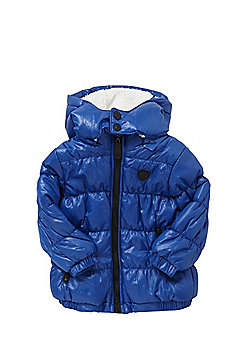 Minoti Shiny Padded Hooded Jacket - Blue