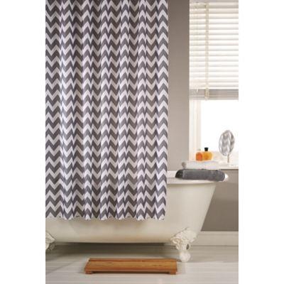 Hamilton McBride Printed Shower Curtain & Rings Set - Chevron