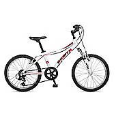"Orbita Shark 20"" Wheel 6 Speed Lightweight Alloy Front Suspension Mountain Bike (White)"