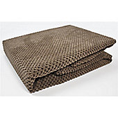 Mason Grey Chenille Spot Chocolate Throw - 180x125cm