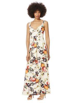 Mela London Floral Maxi Dress Cream 12