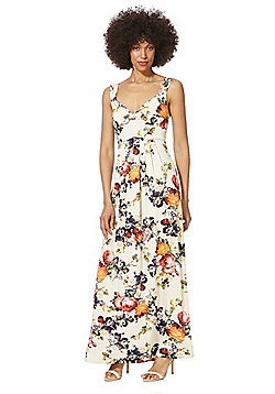 Mela London Floral Maxi Dress - Cream