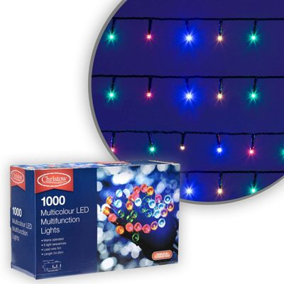 1000 LED Multi-Coloured Chaser Christmas Lights