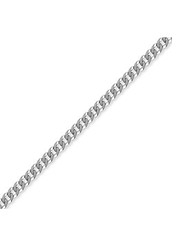 Sterling Silver 4mm Gauge Curb Chain - 22 inch