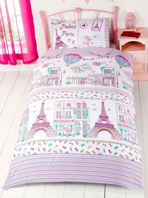 J Adore Paris Single Duvet Cover And Pillowcase Set