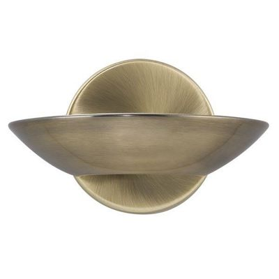 LED UPLIGHT WALL BRACKET, ANTIQUE BRASS, FROSTED GLASS