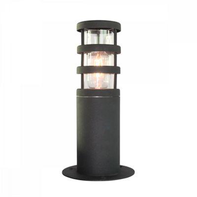 304 SS/Black Pedestal Lantern - 1 x 60W E27