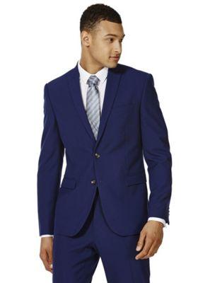 F&F Slim Fit Suit Jacket 40 Chest long length Cobalt