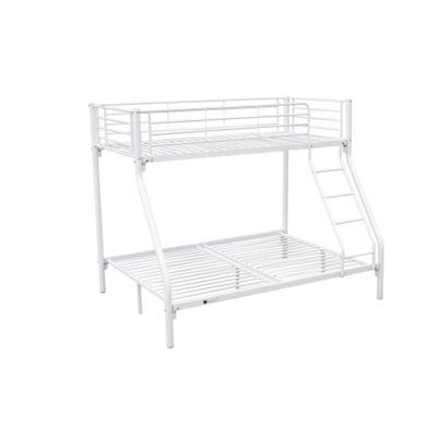 Homegear Triple Sleeper Metal Frame Bunk Bed Home Furniture Childern Kids White