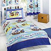 Seven Seas Pirates Junior Duvet Cover and Pillowcase Set