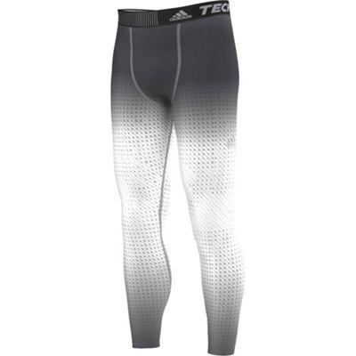 adidas Techfit Warm Mens Compression Baselayer Tight Grey/Onix - XXL