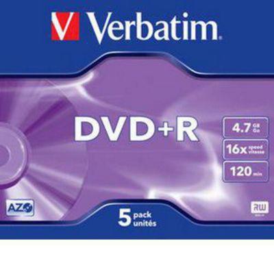 Verbatim DVD-R 4.7GB 16X 5 Pack