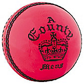 Readers County Crown Cricket Ball - Pink - Youths 4 3/4 oz