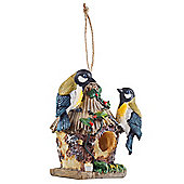 Detailed Hanging Resin Blue t*t Design Bird House Nesting Box