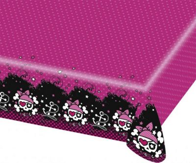 Pink Pirates Tablecover - Plastic Party Table Cover