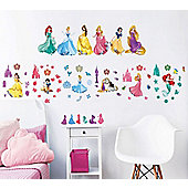 Disney Princess Wall Stickers - Pack of 77