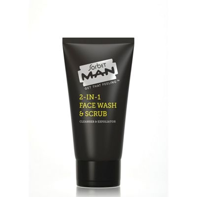 Face Wash for Men - 2 in 1 Mens Face Wash and Face Scrub - 150ml - Sorbet MAN