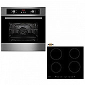 Oven & Hob Pack COF605SS CIT600 | Cookology 60cm Built-in Programmable Electric Fan Oven & Touch Control Induction Hob Pack