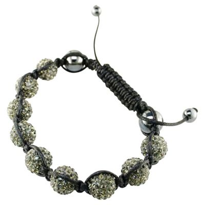 Green Crystal and Hematite 10mm Bracelet