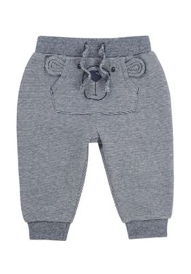 F&F Bear Pouch Pocket Joggers Navy 18-24 months