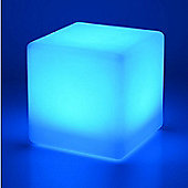 Colour Changing LED Cube Stool 40cm