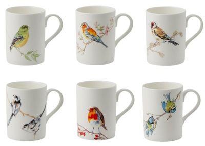 Roy Kirkham Lucy Mugs Set of 6 Birds