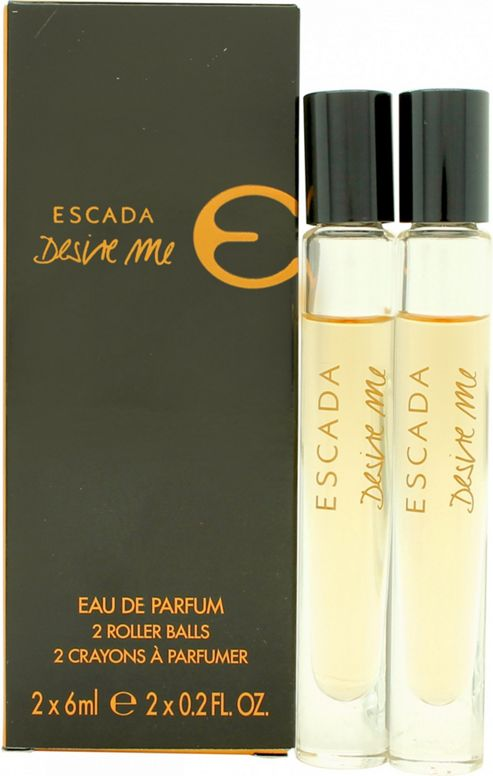 Escada Desire Me Miniature Gift Set 2 x 6ml EDP Roll On For Women