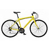 "Claud Butler Urban 500 Yellow Urban Bike 18"" Carbon Forks"
