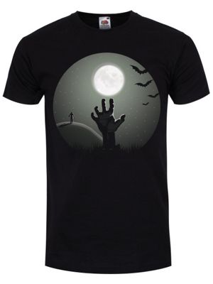 Zombie Uprising Men's T-shirt, Black.