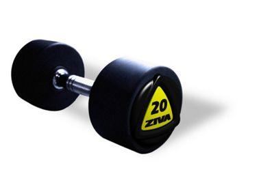 Ziva ZVO Series PU Dumbbells - 220kg Set - 10 Pairs, 2-20Kg