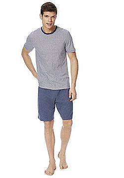 F&F T-Shirt and Shorts Loungewear Set - Blue