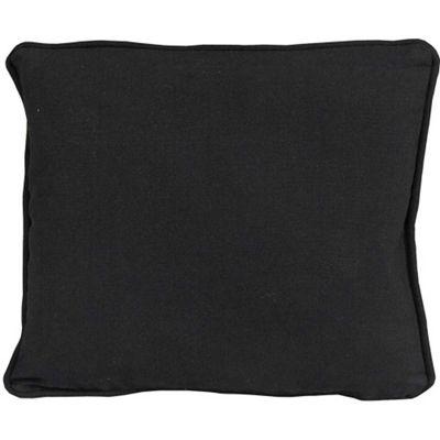 Homescapes Cotton Plain Black Cushion Cover 60 X Cm