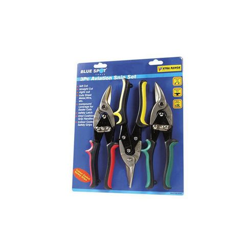 Blue Spot Tools B/s Aviation Tinsnip - Set of 3