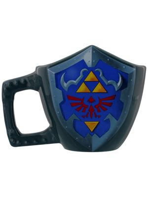 Legend of Zelda The Hyrule Shield Moulded 10oz Ceramic Mug 11.4cm