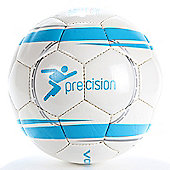 Precision Revolution Match Football White/Cyan Blue/Silver Size 3
