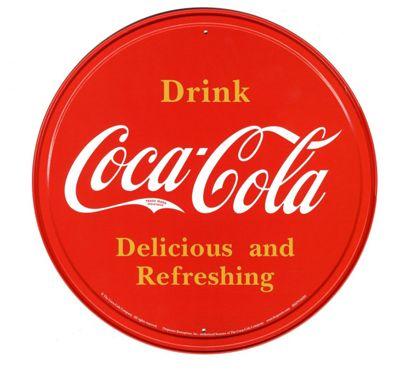 Coca-Cola Coca Cola Bottle Top Logo Tin Sign