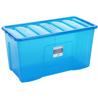Wham 110L Crystal Box & Lid Tint Blue - Pack of 3