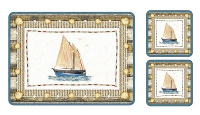 Pimpernel Coastal Breeze Placemats & Coasters, Set of 6