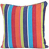 Homescapes Cotton Multi Coloured Stripe Scatter Cushion, 60 x 60 cm