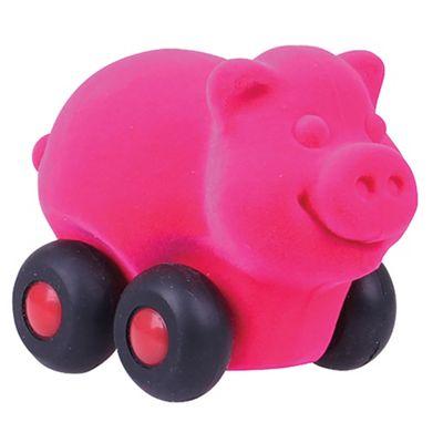 Rubbabu Aniwheelies Pig (Pink)