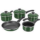 Judge Enamel Non-Stick Saucepan Frying Pan Frypan Set 5 Piece Green