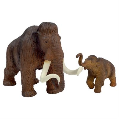 Woolly Mammoth & Calf Figurine Toy Set by Animal Planet