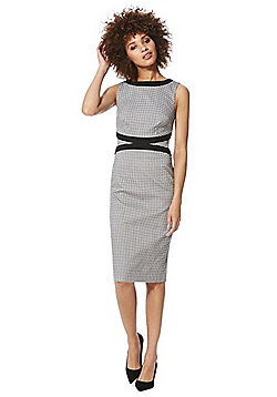 F&F Gingham Sleeveless Pencil Dress - Black & White
