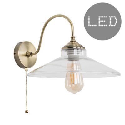 Ashford Steampunk LED Wall Light - Brass & Rosetti