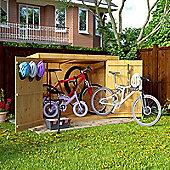 6x3 Overlap Wooden Pent Bike Storage Double Door Roof Felt Store Shed - Premium 6ftx3ft